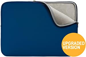 """RAINYEAR 14 Inch Laptop Sleeve Protective Case Soft Lining Padded Zipper Cover Carrying Bag Compatible with 14"""" Notebook Computer Tablet Ultrabook Chromebook (Navy Blue,Upgraded Version)"""
