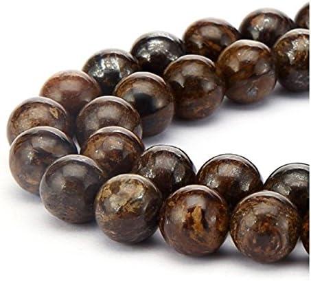Rhodocrosite Brown 16 inch Strand 8mm Round Stone Beads Semi Precious Stone