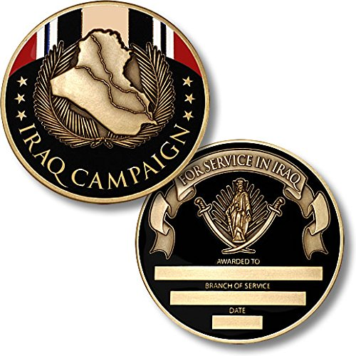 Iraq Campaign Service Medal (Iraq Campaign Medal Coin - Engravable Challenge Coin)