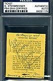 GEORGE STEINBRENNER PSA DNA Autograph 1974 YANKKES SHEA STADIUM TICKET Signed
