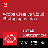Adobe Creative Cloud Photography plan with 20GB: Photoshop CC + Lightroom CC | 1 Year Licence | Online Code & Download