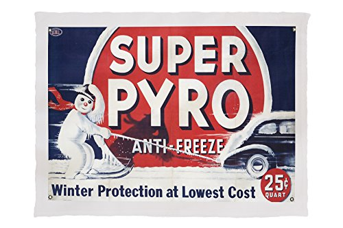 Pyro Blanket - Lantern Press Super Pyro Anti - Freeze Vintage Poster USA 58432 (60x80 Poly Fleece Thick Plush Blanket)