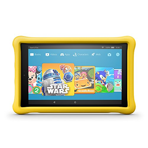 "Fire HD 10 Kids Edition Tablet, 10.1"" 1080p Full HD Display, 32 GB, Yellow Kid-Proof Case by Amazon"