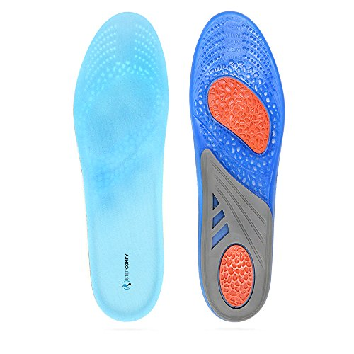 Gel Insoles By Stepcomfy - Shoe Inserts for Running, Hiking, & More - Gel Sport Replacement Insoles for Men & Women - Advanced Design Lets Gel Insoles Absorb Shock (Men's 7-12) (Replacement Insoles Sport)
