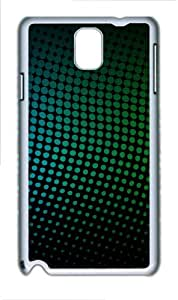 Rainbow Dotted Pattern Polycarbonate Hard Case Cover for Samsung Galaxy Note 3/ Note III / N9000 - Polycarbonate - White