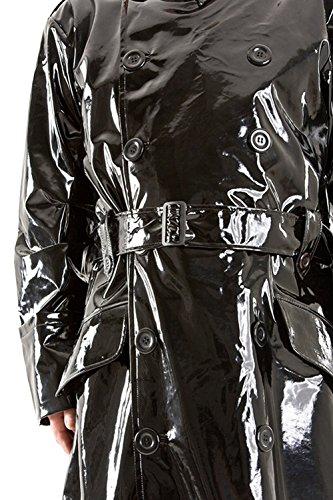 Lackina- Lack Herren Mantel mit hohem Kragen M-3XL