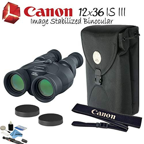 Canon 12x36 is III Image Stabilized Binocular Starters Bundle