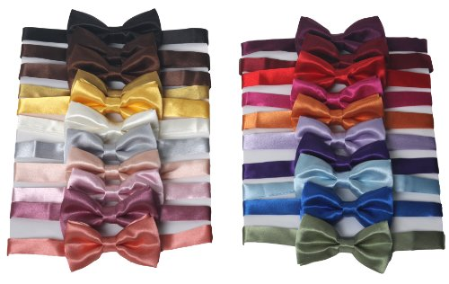 Tuxedo Solid Color Bow Ties for Boys - Black