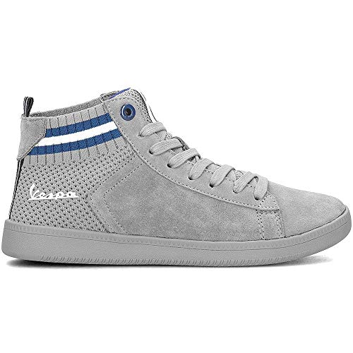 Gris 7035 Hautes Mixte ral New Wave Vespa Clair Baskets Adulte nqfYzxFH