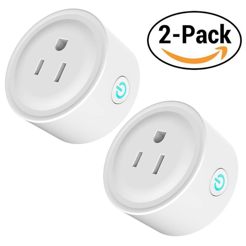 Wifi Smart Plug 2 Pack Mini Wireless Smart Socket,Compatible with Amazon Alexa and Google Home,No Hub Required,Remote Control Your Devices Anywhere, with Timing Function