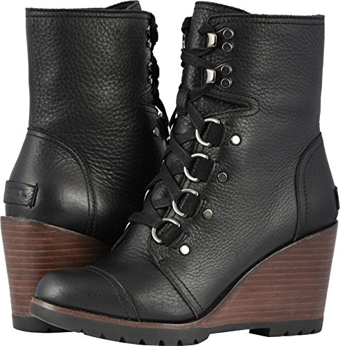 SOREL Women's After Hours¿ Lace Black Full Grain Leather 8 B US - Leather Ankle Boot Lace