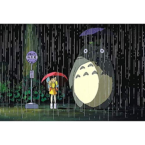 Puzzle ⏰PT Cute My Neighbor Totoro Giapponese Cartoon Anime Bambini Early Learning Educational Toys 1000 Pezzi decompressione per Adulti PT430 (Colore : I, Dimensioni : 5000pc)