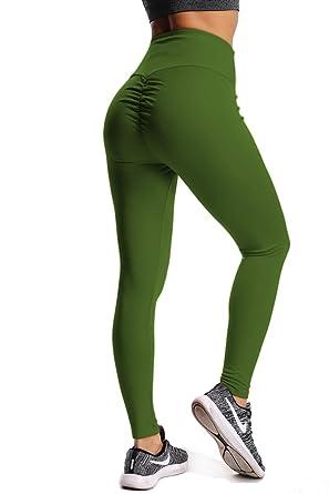 a0d0d0dfcde CROSS1946 Women s High Waist Back Ruched Legging Butt Lift Yoga Pants Hip  Push Up Workout Stretch
