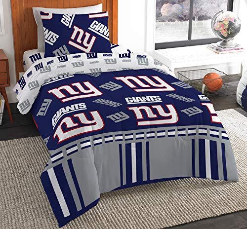The Northwest Company NFL New York Giants Twin Bed in a Bag Complete Bedding Set #696290243