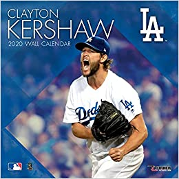 Dodgers Calendar.Los Angeles Dodgers Clayton Kershaw 2020 Calendar Inc Lang