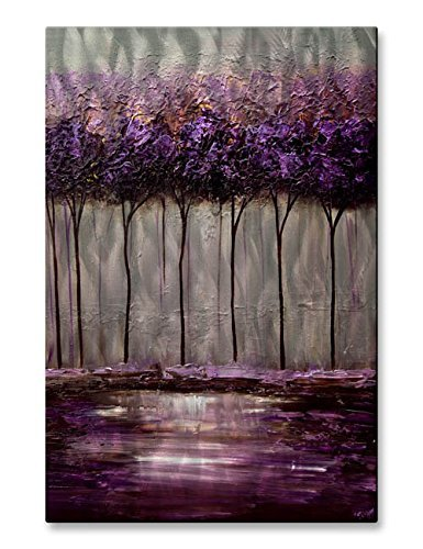 All My Walls Metal Wall Art Decor Contemporary Abstract Purple