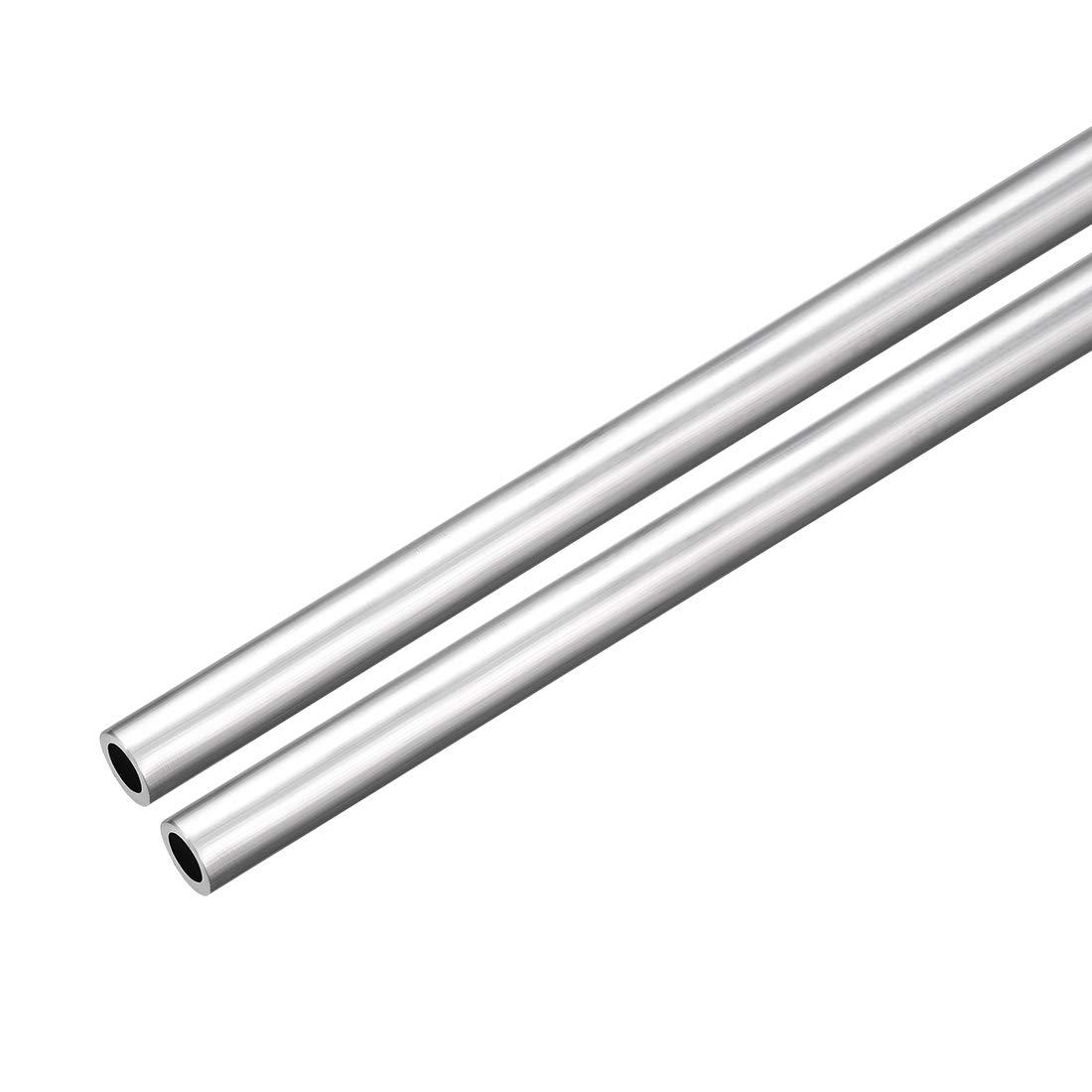 uxcell 6063 Aluminum Round Tube 300mm Length 16mm OD 5mm Inner Dia Seamless Aluminum Straight Tubing 2 Pcs