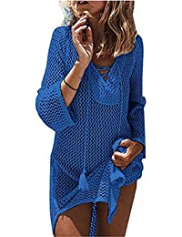 Beach Swimsuit for Women Sleeve Coverups Bikini Cover up Net