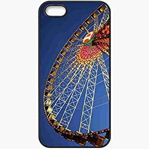 Protective Case Back Cover For iPhone 5 5S Case Germany Stuttgart Ferris Wheel Ferris Wheel Attraction Black