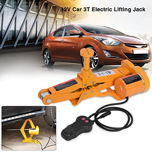 Push Button Crank Lift (Car Electric Jack-3Ton 12V DC Automotive Car Electric Jack Lifting SUV Van Garage and Emergency Equipment)