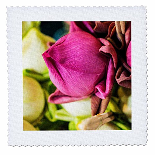 3dRose Danita Delimont - Flowers - Thailand, Chiang Mai, Flowers at the Thai Market Place - 20x20 inch quilt square (qs_276974_8) by 3dRose