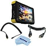 Atomos Shogun Flame Monitor and Recorder - Bundle with Atomos 30cm (11.81'') Coiled Micro HDMI to Full HDMI Cable, Atomos 30cm Coiled Full Size HDMI Cable, Cleaning Cloth (Small)