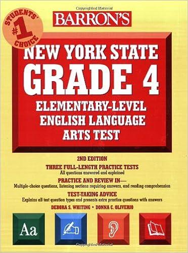 Barron S New York State Grade 4 Elementary Level