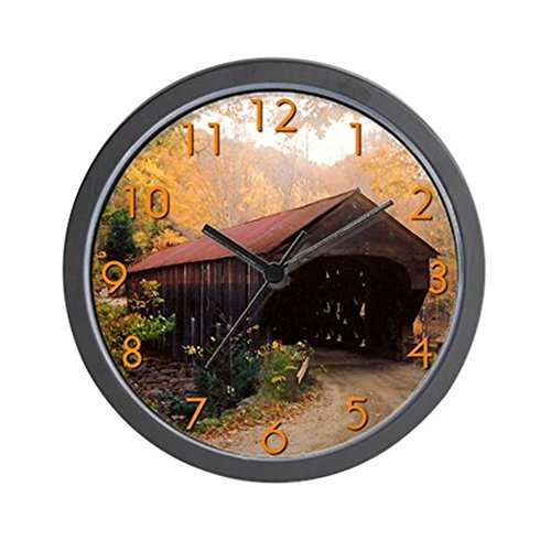 CafePress - Vermont Covered Bridge Wall Clock - Unique Decorative 10