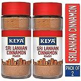Keya Pure & Natural Sri Lankan Cinnamon Powder with Genuine Source Certification,Pack of 2, 100G(50 x 2 = 100)