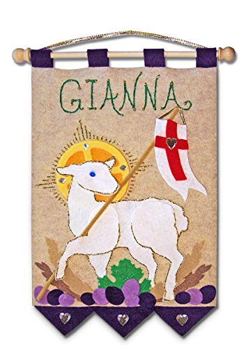 (First Communion Banner Kit - 9 x 12 - Lamb -)