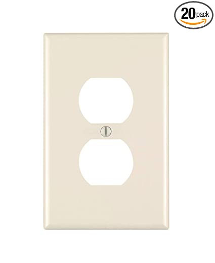 1 Gang 4-1//2 In L X 2-3//4 In W 0.215 In T Smooth Leviton 80703-NT 024-80703-0Nt 1-Duplex Receptacle Standard Size Wall Plate