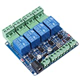 1pc 4 Channel Relay Module Board STM8S103F3 Microcontroller RS485 Communication