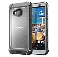 HTC One M9 Case - Poetic [Affinity Series] - [TPU Grip Bumper] [Corner Protection] Protective Case for HTC One M9 (2015) Frost Clear/Gray (3-Year Manufacturer Warranty From Poetic)