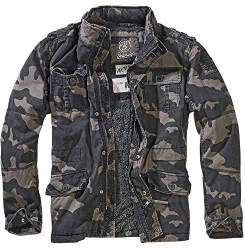 Foncé Brandit Pour Camouflage Britannia D'hiver Hommes M65 Motif Veste SUVjGLzqMp