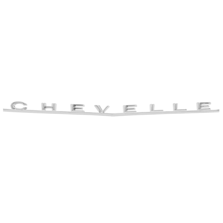 "Trim Parts 4314 Trunk Emblem 1966 Chevelle Malibu /""Chevelle/"""