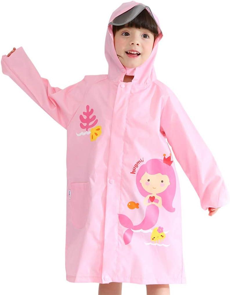 WYTbaby Kids Raincoats Boys Girls Hooded Rain Poncho Waterproof Rain Cover Jacket