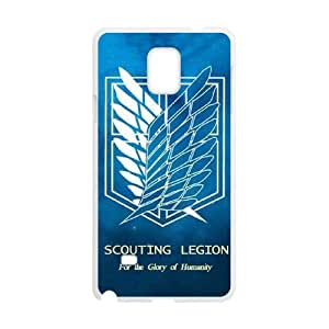 Attack on Titan Wings Of Liberty Flag 001 Samsung Galaxy Note 4 Cell Phone Case White cover xlr01_7701736