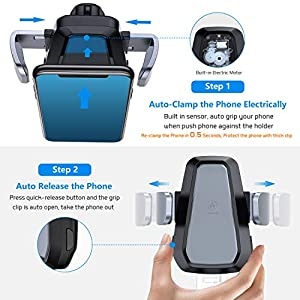 VANMASS Wireless Car Charger, Auto-Clamp Qi Car Mount, 10W/7.5W Fast Charging & Standard 5W Charger, Windshield Dashboard Air Vent Phone Holder Compatible with iPhone X/8/8 Plus, Samsung S9 S8, Note 9