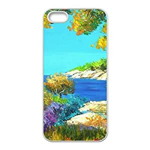 Fresh river side scenery Phone Case for iPhone 5S(TPU)