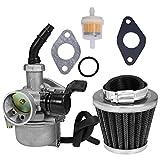 Anxingo ATV Carburetor PZ19 + 35mm Air Filter for 50cc 70cc 90cc 110cc 125cc ATV Dirt Pit Bike Taotao Honda CRF