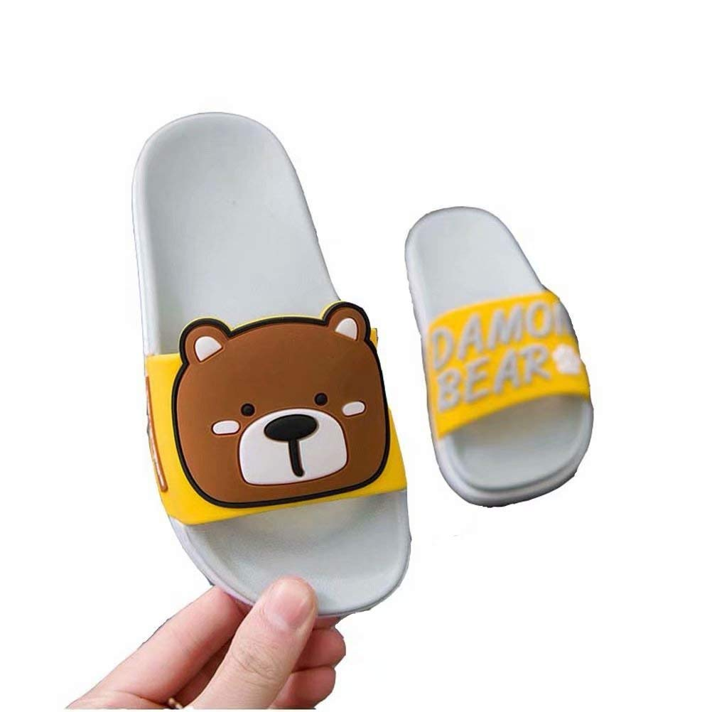 Partypeople Kids Bath Slippers Beach Sandals Shower Shoes Inside Outside Anti-Slip Cute Bear for Toddler Girls Boys