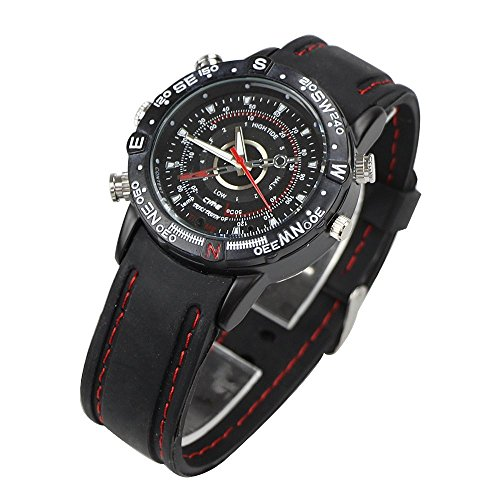 Flylinktech Black 8GB Mini Spy Hidden Camera Watch with Built-in...