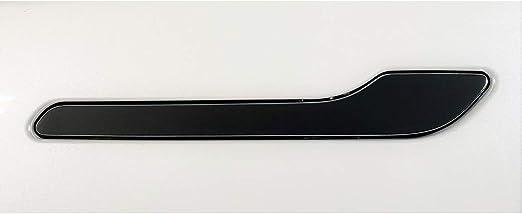 Solid Black//Gloss Black Custom Cut Graphics Full Door Handle Wrap for Tesla Model 3//Y