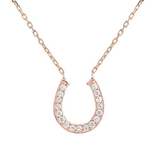 codice promozionale 7857f 52250 Ferro di cavallo portafortuna collana con cristalli ...