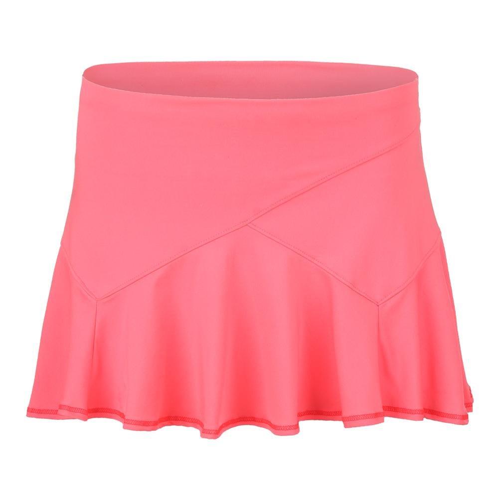 Lucky In Love Ricochet Flounce Skirt-Medium-Lava