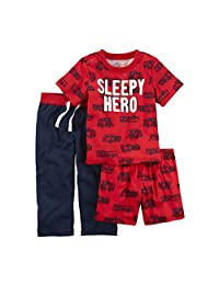 Carter's Baby Boys' 3-Pc. Sleepy Hero Jersey Pajamas