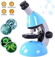 Microscopio Emarth per bambini Studente principiante per bambini, microscopi monoculari 40X- 640X con kit di scienze...