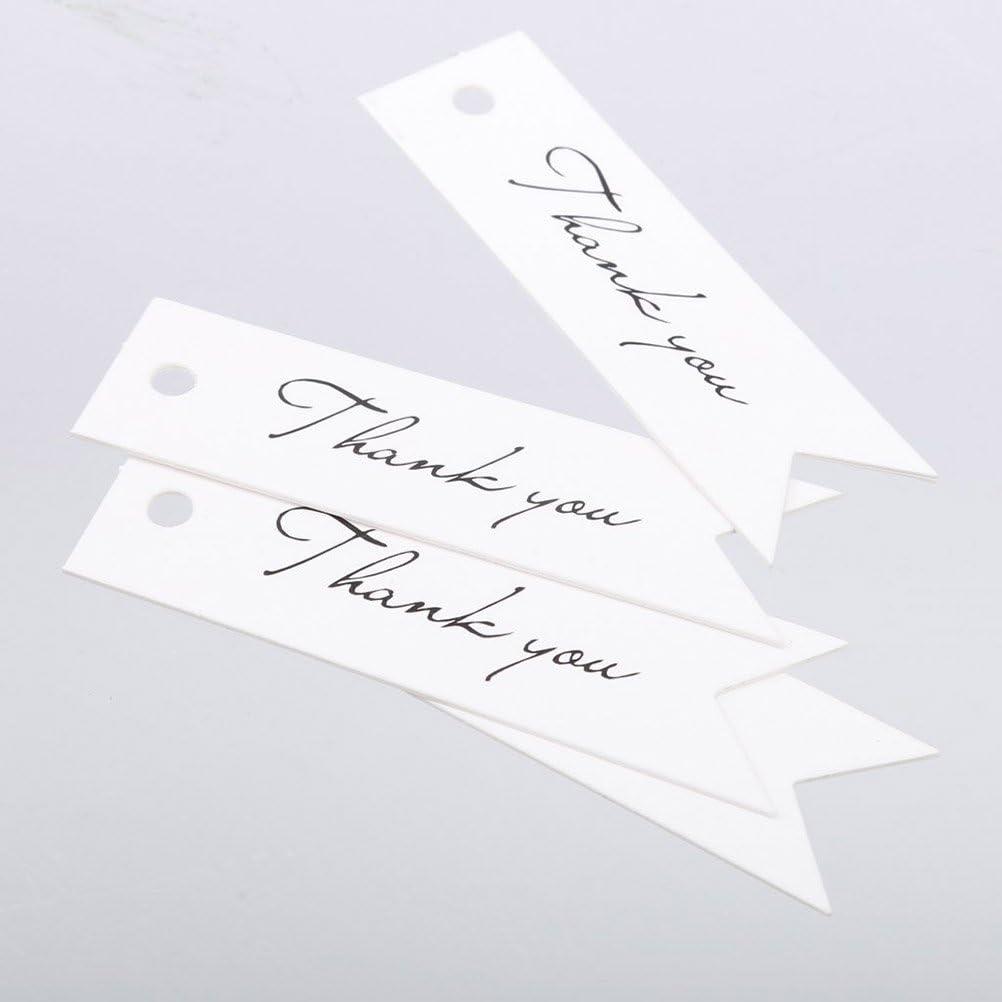 winomo 100/Thank You Kraftpapier Geschenkanh/änger wei/ß Hochzeit f/ür Tag mit 10/m Bindf/äden