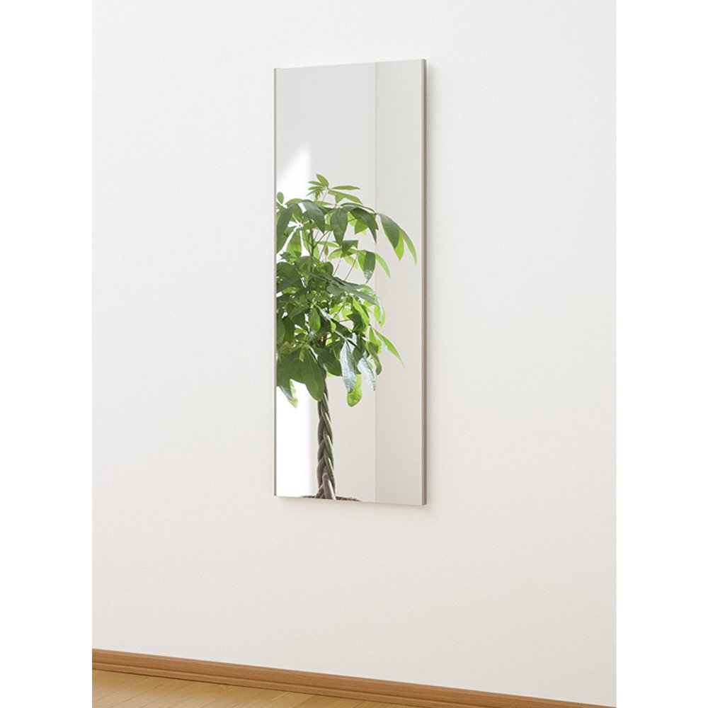 割れない鏡 ミラー 細枠フレーム 全身 姿見 軽量 日本製 幅45 高さ120 シャンパンゴールド B07483ZQ38シャンパンゴールド 幅45×高さ120cm