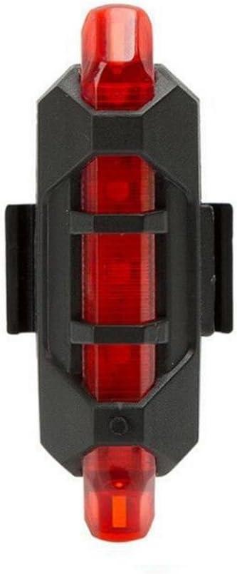 omdoxs Luz Trasera para Bicicleta Recargable USB - Potente LED ...